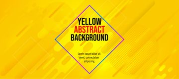 Modern banner fun color abstract yellow color royalty free stock photography
