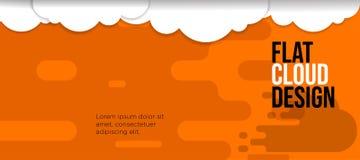 Modern banner fun color orange background cloud royalty free illustration