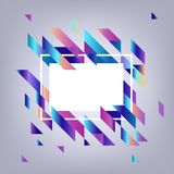 Modern banner with gradient geometric elements - abstract background with copy space. Modern banner with gradient geometric elements - abstract background with royalty free illustration
