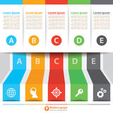 Modern Banner Infographic Royalty Free Stock Photography
