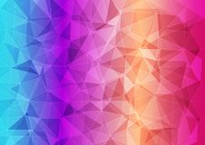 Modern banner with polygonal multi-colored pattern royalty free illustration