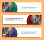 Modern bannermalplaatje, het minimalistische malplaatje van het bannerweb, promotiebannerontwerp, de abstracte achtergronden van  stock illustratie