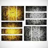 Modern banners, abstract banner design, business Stock Images
