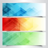 Modern banners with abstract design Stock Image