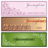 Modern banners with floral. Royalty Free Stock Photography
