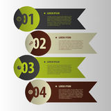 Modern banners. Infographics element origami style. Vector Royalty Free Stock Images