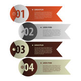 Modern banners. Infographics element origami style. Vector. Illustration Stock Images