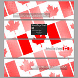 Modern banners. National Flag of Canada Day. Abstract dotted vector background Royalty Free Stock Photos