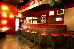 Modern bar. Modern and beautiful bar in a night club Royalty Free Stock Photography