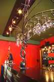Modern bar. Modern and beautiful bar in a night club Royalty Free Stock Photography