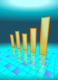 Modern Bar Chart Royalty Free Stock Photo