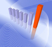 Modern Bar Chart Stock Image