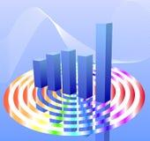 Modern Bar Chart Stock Photography