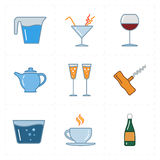 Modern bar icons Royalty Free Stock Photo