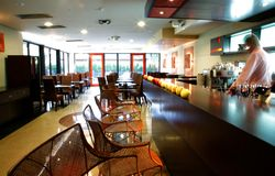 Modern bar interior Royalty Free Stock Photos