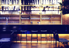 Modern bar. Interior of a modern pub or bar in night Royalty Free Stock Images