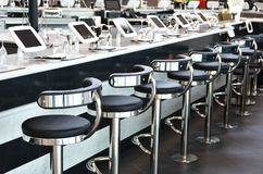 Modern bar. With internet terminals Royalty Free Stock Photography