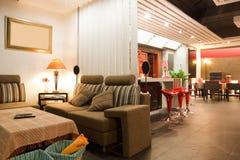 Modern bar or restaurant interior stock photo