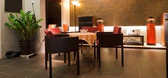 Modern bar or restaurant interior Royalty Free Stock Images