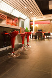 Modern bar or restaurant interior Royalty Free Stock Photos