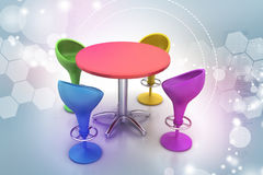 Modern bar table Stock Images