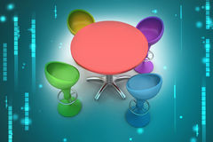 Modern bar table Royalty Free Stock Photos