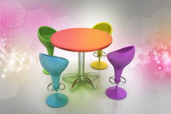 Modern bar table Royalty Free Stock Images