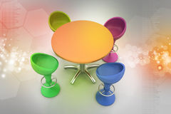 Modern bar table Royalty Free Stock Image