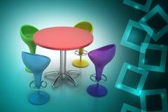 Modern bar table Royalty Free Stock Photos