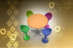 Modern bar table Stock Photos