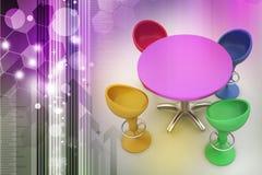 Modern bar table Stock Photo