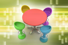 Modern bar table Royalty Free Stock Photography