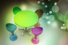 Modern bar table Stock Image