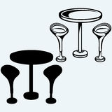 Modern bar table with two chairs Royalty Free Stock Image