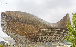 modern barcelona byggnad Arkivfoto