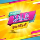 Modern bargain sale poster Stock Photo
