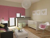 Modern barnkammare Royaltyfri Foto
