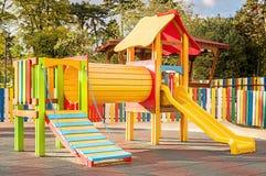 Modern barnlekplats Arkivfoto