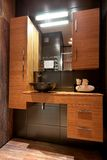 Modern basin in design stylish bathroom Royalty Free Stock Image