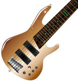 Modern Bass Guitar Royalty Free Stock Photography