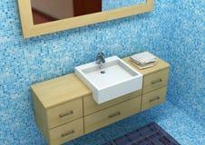 Modern bath. Hi res rendering, detail of modern bathroom royalty free stock photos