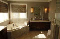 Modern bath room. A species beautiful bath room in a model home in Ottawa, Canada royalty free stock photos