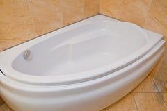 Modern bath tub. Photo taken in bathroom. Soft lightening used stock photos