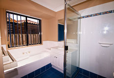 A Modern Bathroom. In a new home Royalty Free Stock Photo