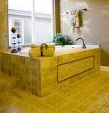 Modern bathroom. Bathtub in a modern bathroom Royalty Free Stock Photos