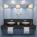 Modern bathroom. Royalty Free Stock Photo