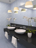 Modern bathroom. Royalty Free Stock Images