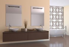 Modern bathroom. Royalty Free Stock Photos