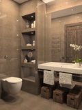 Modern bathroom. Royalty Free Stock Images