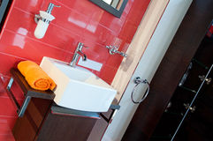 Modern Bathroom. Picture of modern and trendy bathroom, horizontal shot Royalty Free Stock Image